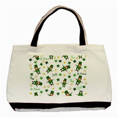 St Patricks Day Pattern Basic Tote Bag