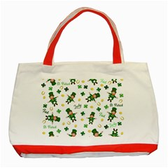 St Patricks Day Pattern Classic Tote Bag (red)