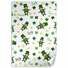 St Patricks Day Pattern Canvas 12  X 18