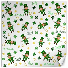 St Patricks Day Pattern Canvas 16  X 16