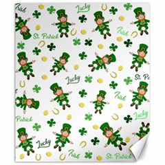 St Patricks Day Pattern Canvas 20  X 24