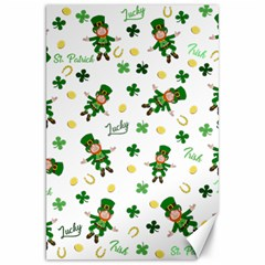 St Patricks Day Pattern Canvas 20  X 30