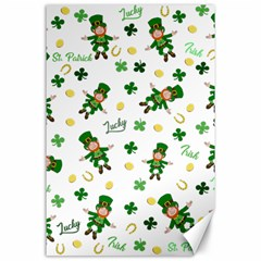 St Patricks Day Pattern Canvas 24  X 36