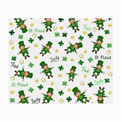 St Patricks Day Pattern Small Glasses Cloth (2 Side)