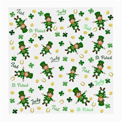 St Patricks Day Pattern Medium Glasses Cloth (2 Side)
