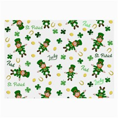St Patricks Day Pattern Large Glasses Cloth (2 Side)