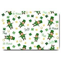 St Patricks Day Pattern Large Doormat