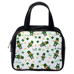 St Patricks Day Pattern Classic Handbags (one Side)