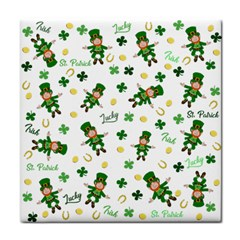 St Patricks Day Pattern Face Towel