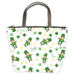 St Patricks Day Pattern Bucket Bags