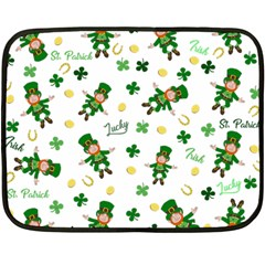 St Patricks Day Pattern Fleece Blanket (mini)