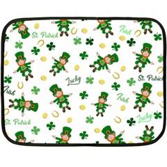 St Patricks Day Pattern Double Sided Fleece Blanket (mini)