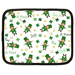 St Patricks Day Pattern Netbook Case (xl)