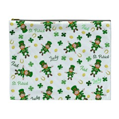 St Patricks Day Pattern Cosmetic Bag (xl)