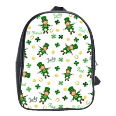 St Patricks Day Pattern School Bag (large)