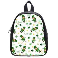 St Patricks Day Pattern School Bag (small)