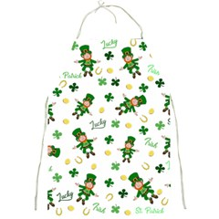 St Patricks Day Pattern Full Print Aprons