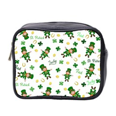 St Patricks Day Pattern Mini Toiletries Bag 2 Side