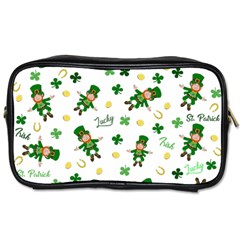 St Patricks Day Pattern Toiletries Bags 2 Side