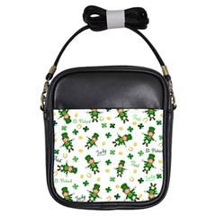 St Patricks Day Pattern Girls Sling Bags