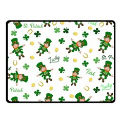 St Patricks Day Pattern Fleece Blanket (small)
