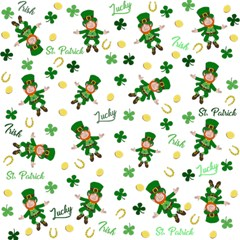 St Patricks Day Pattern Magic Photo Cubes