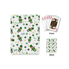 St Patricks Day Pattern Playing Cards (mini)