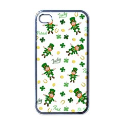 St Patricks Day Pattern Apple Iphone 4 Case (black)