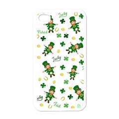 St Patricks Day Pattern Apple Iphone 4 Case (white)