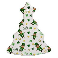 St Patricks Day Pattern Christmas Tree Ornament (two Sides)