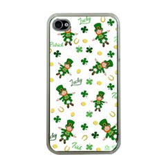 St Patricks Day Pattern Apple Iphone 4 Case (clear)