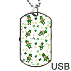 St Patricks Day Pattern Dog Tag Usb Flash (two Sides)