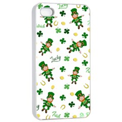 St Patricks Day Pattern Apple Iphone 4/4s Seamless Case (white)