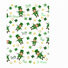 St Patricks Day Pattern Small Garden Flag (two Sides)