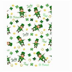 St Patricks Day Pattern Large Garden Flag (two Sides)