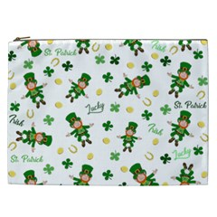 St Patricks Day Pattern Cosmetic Bag (xxl)