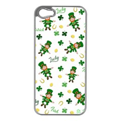 St Patricks Day Pattern Apple Iphone 5 Case (silver)
