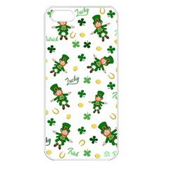 St Patricks Day Pattern Apple Iphone 5 Seamless Case (white)