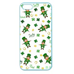St Patricks Day Pattern Apple Seamless Iphone 5 Case (color)