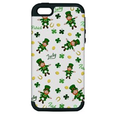 St Patricks Day Pattern Apple Iphone 5 Hardshell Case (pc+silicone)