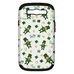 St Patricks Day Pattern Samsung Galaxy S Iii Hardshell Case (pc+silicone)