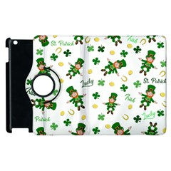 St Patricks Day Pattern Apple Ipad 3/4 Flip 360 Case