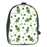 St Patricks day pattern School Bag (XL) Front