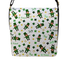 St Patricks Day Pattern Flap Messenger Bag (l)
