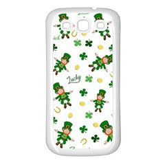 St Patricks Day Pattern Samsung Galaxy S3 Back Case (white)