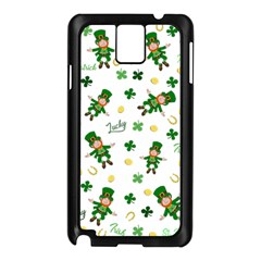 St Patricks Day Pattern Samsung Galaxy Note 3 N9005 Case (black)