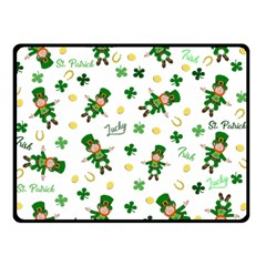 St Patricks Day Pattern Double Sided Fleece Blanket (small)