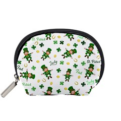 St Patricks Day Pattern Accessory Pouches (small)