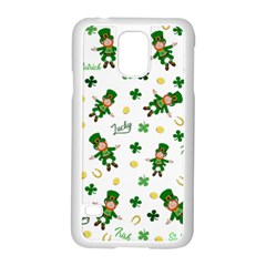 St Patricks Day Pattern Samsung Galaxy S5 Case (white)
