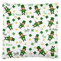 St Patricks Day Pattern Large Flano Cushion Case (one Side)